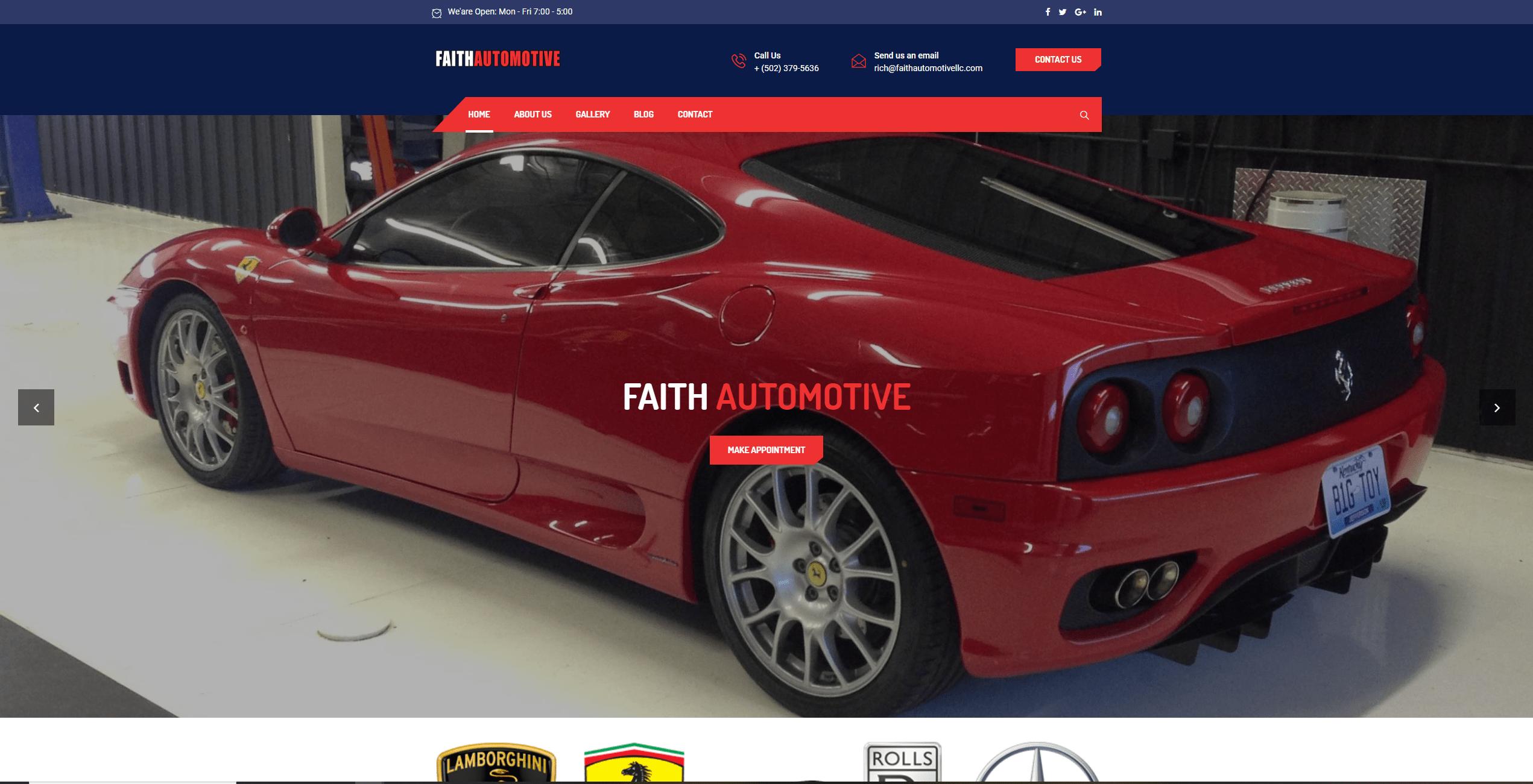 faith automotive screenshot